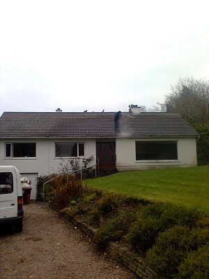 Roof cleaning in Carryduff, Belfast, Northern Ireland by 1st Aerial Installations and Services, Belfast